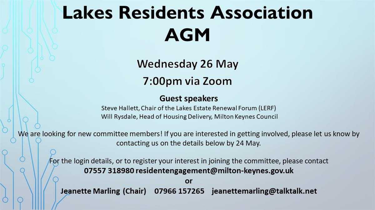 Image of Lakes Estate AGM poster