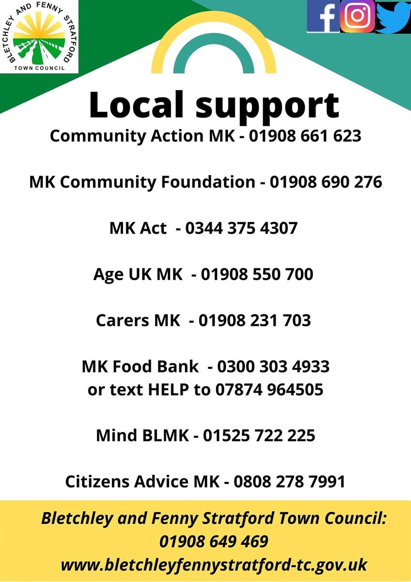 Image of local support poster