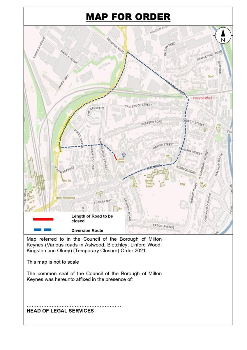 Image of Map for Order for Princes Way
