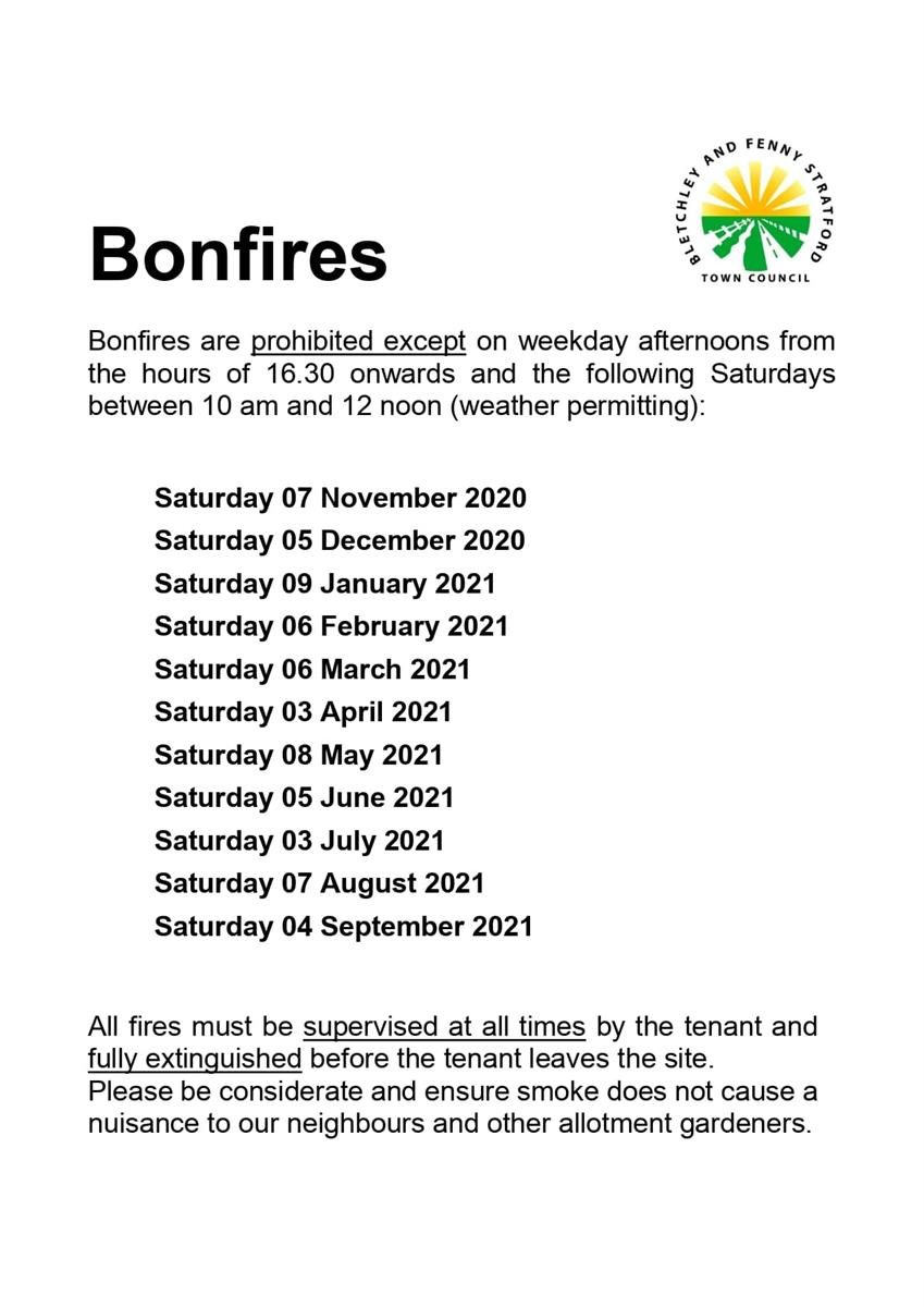 Image of bonfire poster dates
