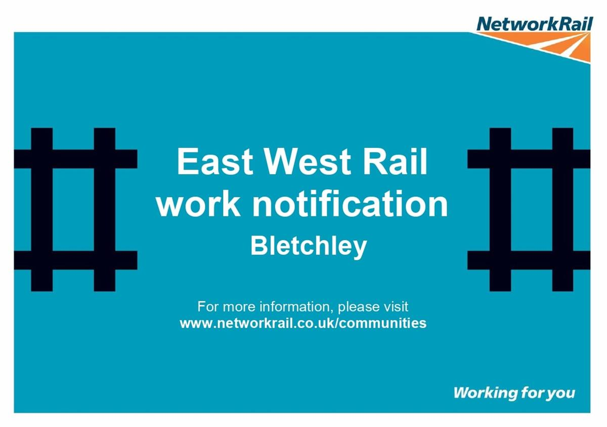 Image of East West Rail Alliance Notification poster
