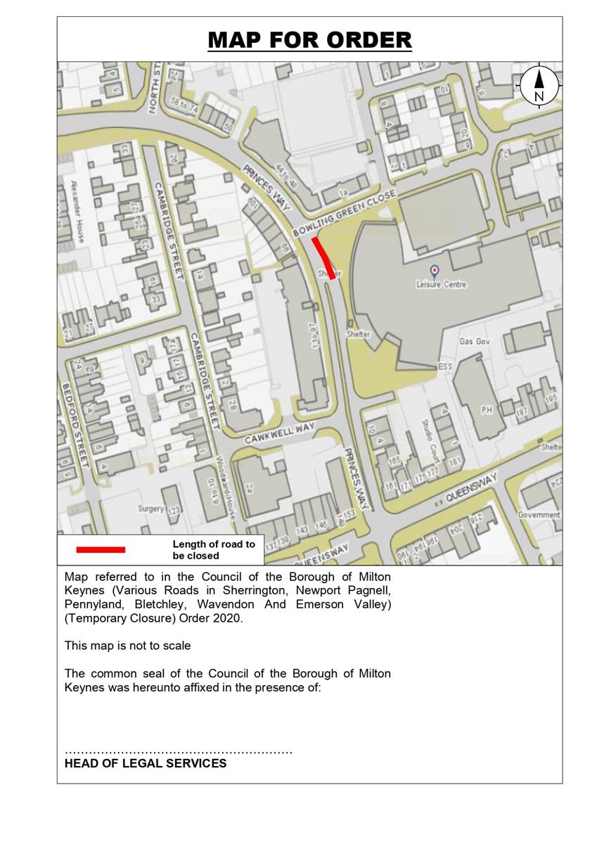 Image of closure maps for Princes Way