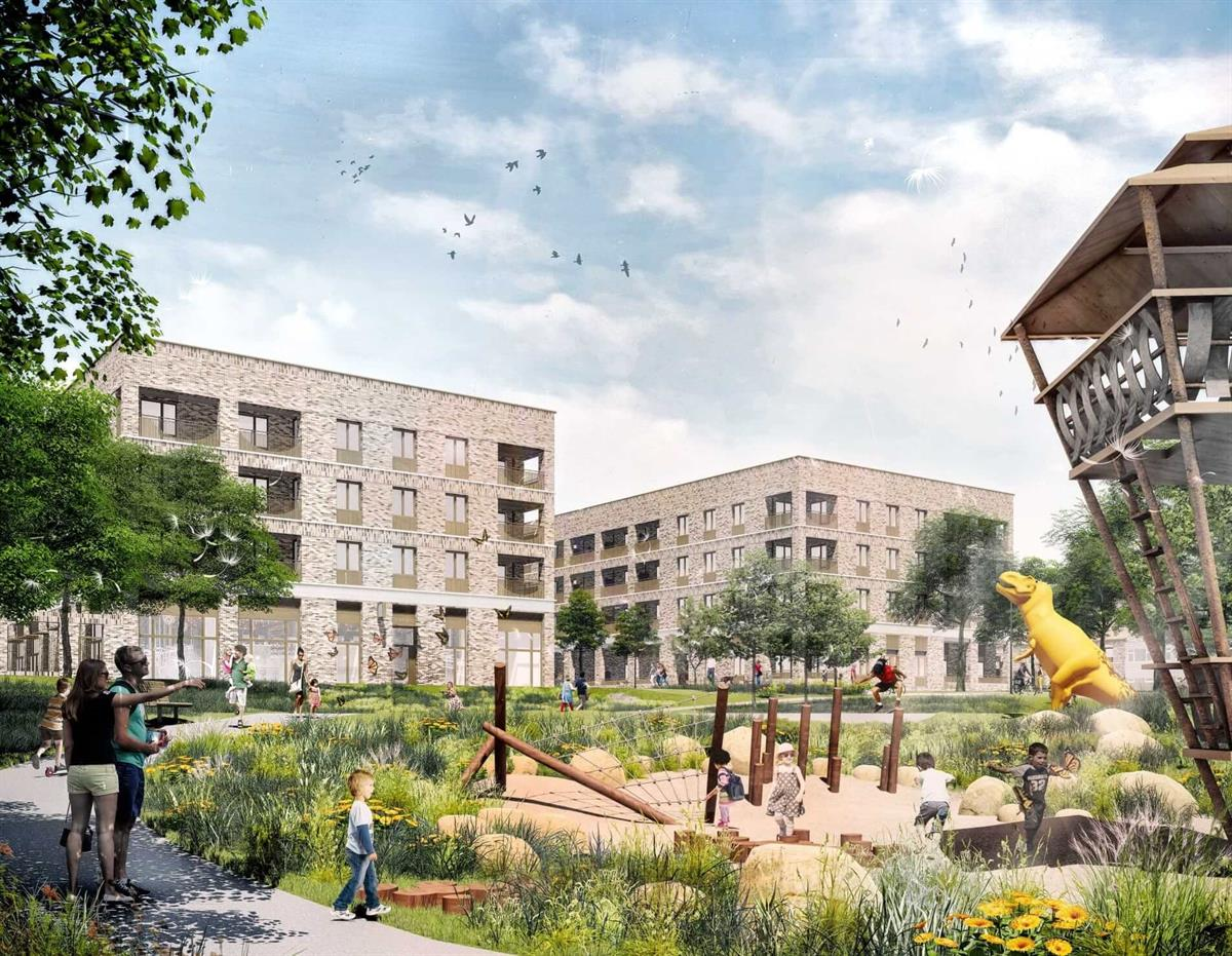 Visual illustration of the Lakes Estate Redevelopment Plan