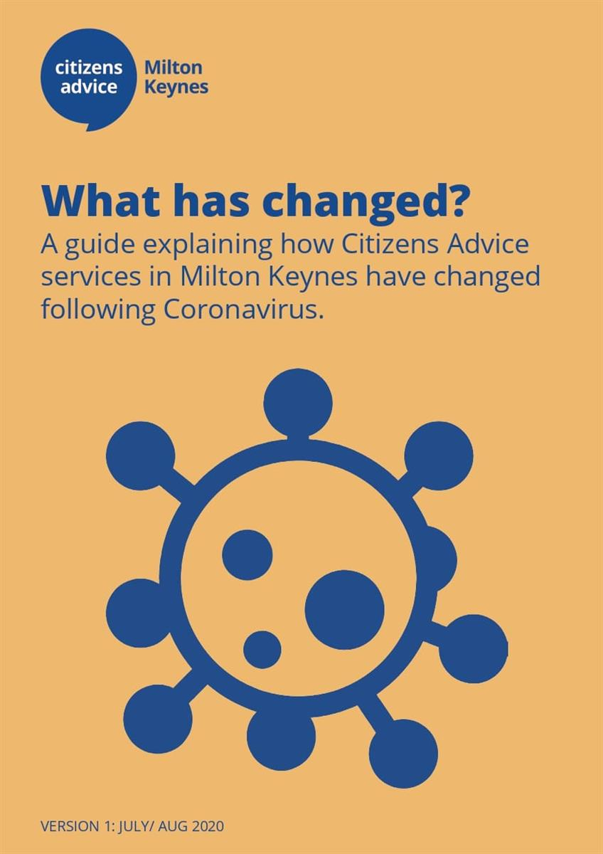 Front page of Citizens Advice information leaflet