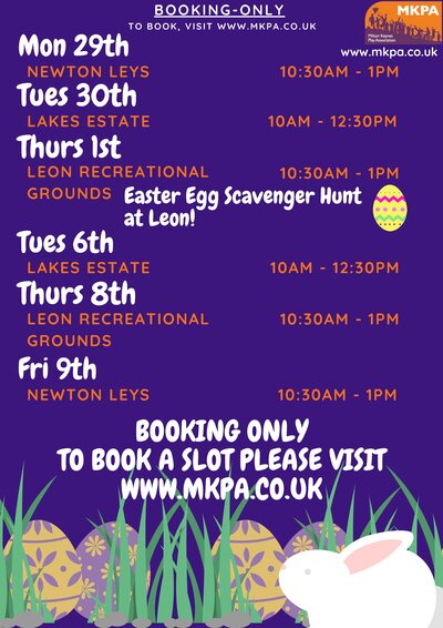 Image of second page of MKPA Easter poster