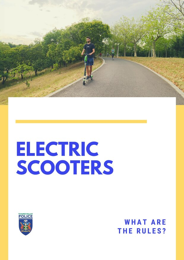 Image of electric scooters poster