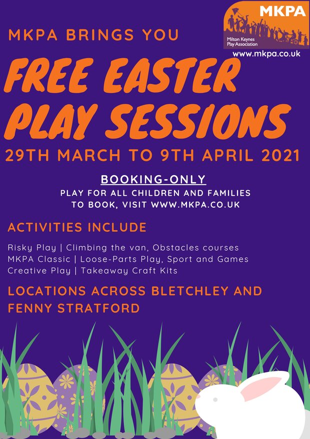 Image of front page of MKPA Easter poster